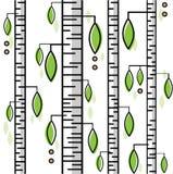 Αφηρημένο άνευ ραφής σχέδιο με τη θερινή σημύδα και τα πράσινα φύλλα Στοκ Φωτογραφία