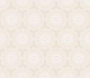Αφηρημένο άνευ ραφής σχέδιο με τις στρογγυλές εκλεκτής ποιότητας διακοσμήσεις Στοκ Φωτογραφίες