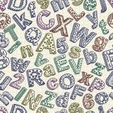Αφηρημένο άνευ ραφής σχέδιο πηγών doodle Στοκ Εικόνα