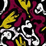 Αφηρημένο άνευ ραφής σχέδιο σε ένα μαύρο γκράφιτι υποβάθρου απεικόνιση αποθεμάτων