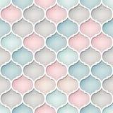 Αφηρημένο άνευ ραφής σχέδιο στο αραβικό ύφος Χαμηλωμένα χρώματα Στοκ φωτογραφία με δικαίωμα ελεύθερης χρήσης