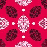 Αφηρημένο άνευ ραφής σχέδιο στο κόκκινο υπόβαθρο Στοκ φωτογραφίες με δικαίωμα ελεύθερης χρήσης