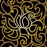 Αφηρημένο άνευ ραφής σχέδιο στο ύφος deco τέχνης Στοκ φωτογραφία με δικαίωμα ελεύθερης χρήσης