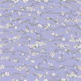 Αφηρημένο άνευ ραφής σχέδιο sakura Floral κλάδος με τα λουλούδια Στοκ φωτογραφία με δικαίωμα ελεύθερης χρήσης