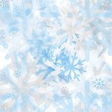 Αφηρημένο άνευ ραφής σχέδιο snowflakes μουτζουρωμένα Στοκ Εικόνα