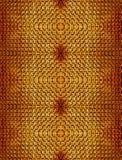 Αφηρημένο άνευ ραφής της υφής υπόβαθρο των πορτοκαλιών τούβλων της έξοχης τεκτονικής και φορμαρισμένος μαζί symmetrically στοκ εικόνες