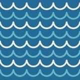 Αφηρημένο άνευ ραφής υπόβαθρο θάλασσας σχεδίων κυμάτων Τα λωρίδες σχεδιάζουν τη διανυσματική απεικόνιση Στοκ φωτογραφία με δικαίωμα ελεύθερης χρήσης