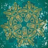 Αφηρημένο άνευ ραφής υπόβαθρο των πράσινων κυκλικών καρδιών σχεδίων Στοκ φωτογραφίες με δικαίωμα ελεύθερης χρήσης