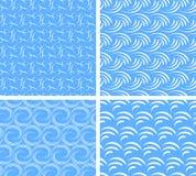αφηρημένο άνευ ραφής ύδωρ προτύπων Στοκ Εικόνα