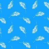 Αφηρημένο άνευ ραφής floral σχέδιο με τα φύλλα Στοκ Εικόνα