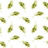 Αφηρημένο άνευ ραφής floral σχέδιο με τα φύλλα Στοκ Φωτογραφία