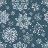 Αφηρημένο άνευ ραφής snowflake Χριστουγέννων σχέδιο Απεικόνιση αποθεμάτων