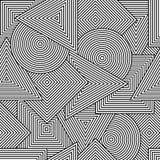 Αφηρημένο άνευ ραφής tuxture Διανυσματικό υπόβαθρο με τις γεωμετρικές μορφές γραμμών Διανυσματική απεικόνιση