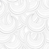 Αφηρημένο άσπρο άνευ ραφής σχέδιο λωρίδων γραμμών κύκλων Χαοτική ροή Στοκ Εικόνες