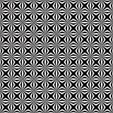 Αφηρημένο άσπρο γεωμετρικό Floral άνευ ραφής σχέδιο στο μαύρο υπόβαθρο απεικόνιση αποθεμάτων