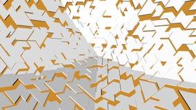 Αφηρημένο άσπρο και κίτρινο υπόβαθρο σκηνής Στοκ φωτογραφία με δικαίωμα ελεύθερης χρήσης