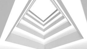 Αφηρημένο άσπρο κτήριο απόθεμα βίντεο