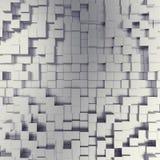 Αφηρημένο άσπρο μεταλλικό υπόβαθρο κύβων τρισδιάστατη απεικόνιση Στοκ φωτογραφία με δικαίωμα ελεύθερης χρήσης