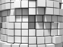 Αφηρημένο άσπρο υπόβαθρο τοίχων κύβων Στοκ εικόνα με δικαίωμα ελεύθερης χρήσης