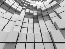 Αφηρημένο άσπρο υπόβαθρο τοίχων κύβων Στοκ Φωτογραφίες