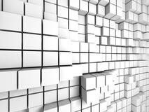 Αφηρημένο άσπρο υπόβαθρο τοίχων κύβων Στοκ φωτογραφία με δικαίωμα ελεύθερης χρήσης
