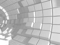 Αφηρημένο άσπρο υπόβαθρο τοίχων κύβων Στοκ φωτογραφίες με δικαίωμα ελεύθερης χρήσης