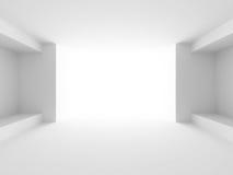Αφηρημένο άσπρο φουτουριστικό υπόβαθρο αρχιτεκτονικής Στοκ φωτογραφία με δικαίωμα ελεύθερης χρήσης