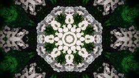 Αφηρημένο άσπρο mandala λουλουδιών στοκ εικόνα με δικαίωμα ελεύθερης χρήσης
