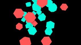 Αφηρημένο άλμα γεωμετρίας τυχαίο απόθεμα βίντεο