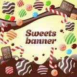 Αφηρημένο έμβλημα γλυκών ελεύθερη απεικόνιση δικαιώματος