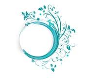 Αφηρημένο έμβλημα με τις μπούκλες του μπλε χρώματος στοκ φωτογραφία με δικαίωμα ελεύθερης χρήσης