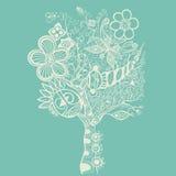 Αφηρημένο δέντρο στο μπλε Στοκ φωτογραφίες με δικαίωμα ελεύθερης χρήσης
