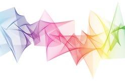 Αφηρημένο αιχμηρό κύμα ουράνιων τόξων Στοκ φωτογραφία με δικαίωμα ελεύθερης χρήσης