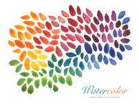 Αφηρημένο ακρυλικό και χρωματισμένο κτυπήματα υπόβαθρο βουρτσών watercolor Στοκ φωτογραφίες με δικαίωμα ελεύθερης χρήσης