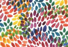 Αφηρημένο ακρυλικό και χρωματισμένο κτυπήματα υπόβαθρο βουρτσών watercolor Στοκ Εικόνα