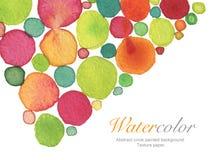 Αφηρημένο ακρυλικό και χρωματισμένο κύκλος υπόβαθρο watercolor Στοκ Φωτογραφίες