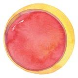 Αφηρημένο ακρυλικό και χρωματισμένο κύκλος υπόβαθρο watercolor Στοκ Εικόνα