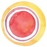 Αφηρημένο ακρυλικό και χρωματισμένο κύκλος υπόβαθρο watercolor Στοκ φωτογραφίες με δικαίωμα ελεύθερης χρήσης