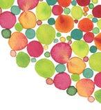 Αφηρημένο ακρυλικό και χρωματισμένο κύκλος υπόβαθρο watercolor Στοκ Εικόνες