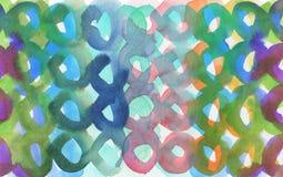 Αφηρημένο ακρυλικό και χρωματισμένο κύκλος υπόβαθρο watercolor Textu Στοκ Εικόνες