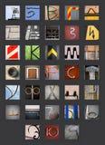 αφηρημένο αλφάβητο τα κυρ&io Στοκ φωτογραφία με δικαίωμα ελεύθερης χρήσης