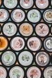 Αφηρημένο αναδρομικό εκλεκτής ποιότητας πολύχρωμο υπόβαθρο με το αφηρημένο textu Στοκ Φωτογραφία