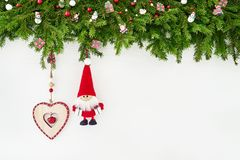 αφηρημένο ανασκόπησης Χριστουγέννων σκοτεινό διακοσμήσεων σχεδίου λευκό αστεριών προτύπων κόκκινο Κλάδος δέντρων έλατου Χριστουγέ Στοκ Φωτογραφία