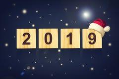 αφηρημένο ανασκόπησης Χριστουγέννων σκοτεινό διακοσμήσεων σχεδίου λευκό αστεριών προτύπων κόκκινο 2019 Αριθμοί που αποτελούνται α διανυσματική απεικόνιση