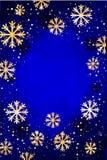 αφηρημένο ανασκόπησης Χριστουγέννων σκοτεινό διακοσμήσεων σχεδίου λευκό αστεριών προτύπων κόκκινο Αφηρημένη απεικόνιση με snowfla Απεικόνιση αποθεμάτων