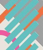 Αφηρημένο αναδρομικό υπόβαθρο της δεκαετίας του '80 με τις γεωμετρικά μορφές και το σχέδιο Υλικό σχέδιο διανυσματική απεικόνιση