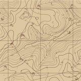 Αφηρημένο αναδρομικό υπόβαθρο χαρτών τοπογραφίας Στοκ εικόνα με δικαίωμα ελεύθερης χρήσης