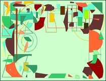 Αφηρημένο ανοικτό πράσινο κενό διάστημα μορίων ζωγράφων expressionist ύφους υποβάθρου για το κείμενό σας Στοκ φωτογραφία με δικαίωμα ελεύθερης χρήσης