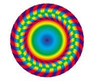 Αφηρημένο αντικείμενο ουράνιων τόξων Δίσκος, mandala, κύκλος Στοκ Φωτογραφίες