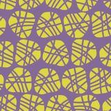 Αφηρημένο ανώμαλο διανυσματικό άνευ ραφής σχέδιο μορφών Σκιαγραφίες ασβέστη των σημείων σε ένα πορφυρό υπόβαθρο Μεγάλος για τις τ διανυσματική απεικόνιση